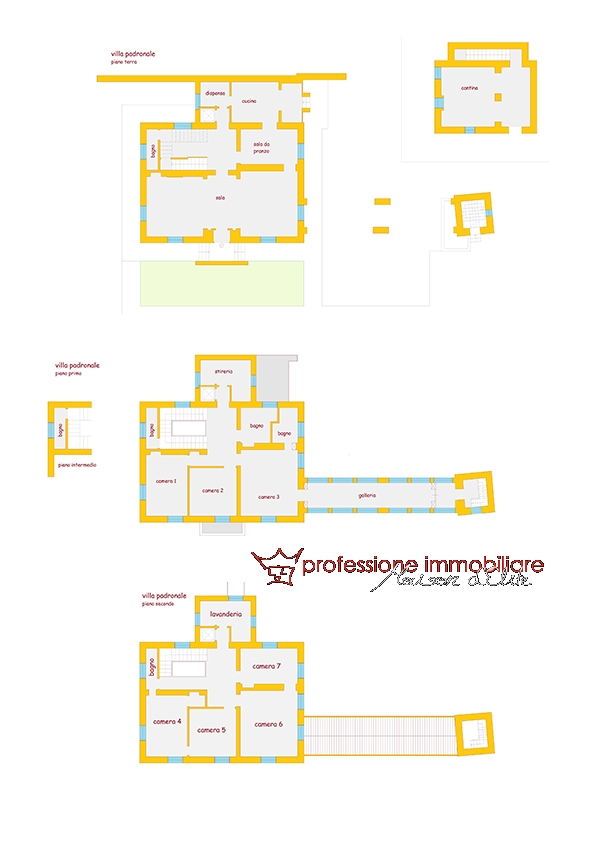Planimetria casa padronale